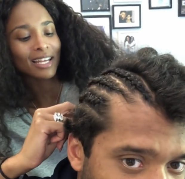 Ciara Cornrows Russell Wilson's Hair [VIDEO]