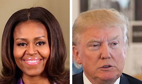 Michelle Obama Slams Donald Trump 'We Are Living With Divorced Dad'