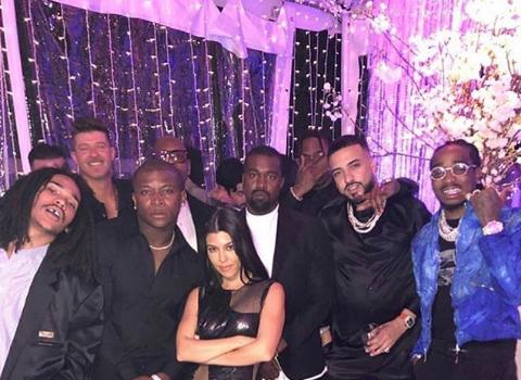 Kourtney Kardashian Celebrates 40th B-Day W/ Massive Party, Naked Cake & Celebs Including: Kanye, French Montana, Robin Thicke, Quavo & OT Genasis