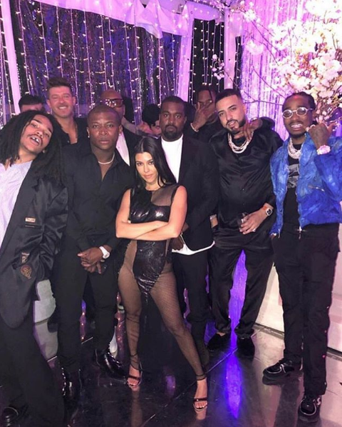 Kourtney Kardashian Celebrates 40th B-Day W/ Massive Party, Naked Cake & Celebs Including: Kanye, French Montana, Robin Thicke, Quavo & OT Genasis
