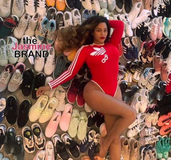 Beyonce Lounges In Sneakers, Promoting Upcoming Adidas Collaboration