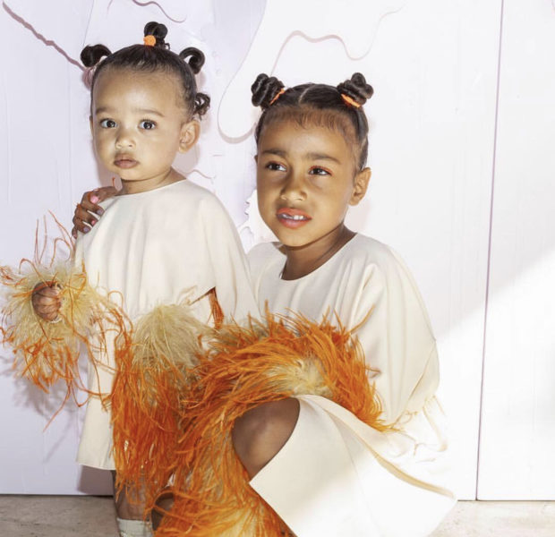 North West Wears Heels & Poses W/ Baby Sister Chicago At Khloe Kardashian's Daughter's 1st B-Day