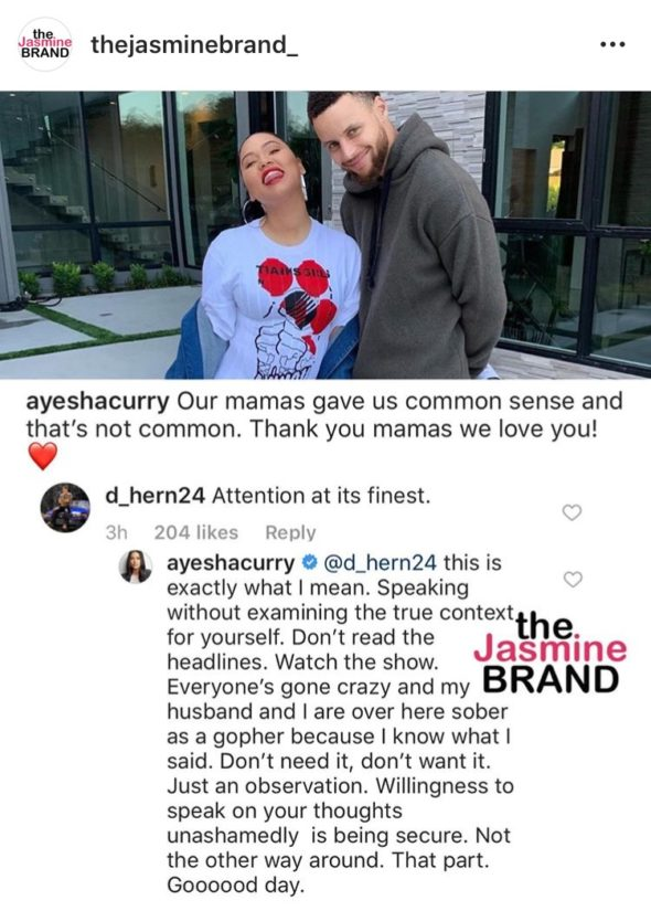 24e467ef5e01 What are your thoughts on Ayesha Curry s recent comments  Let us know in  the comments!
