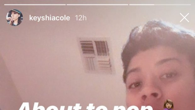 Keyshia Cole Says She's Ready To Pop, As She Shows Her Growing Pregnancy Belly [Photo]