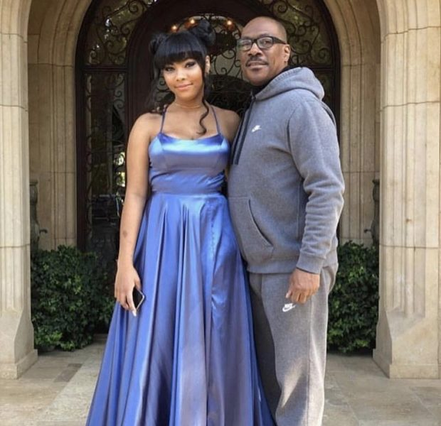 Eddie Murphy's Daughter Bella Stuns In Blue Prom Gown [Photos]