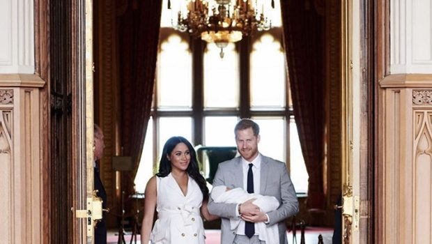 Prince Harry & Meghan Markle Show Off Their Adorable Baby Boy In Christmas Card