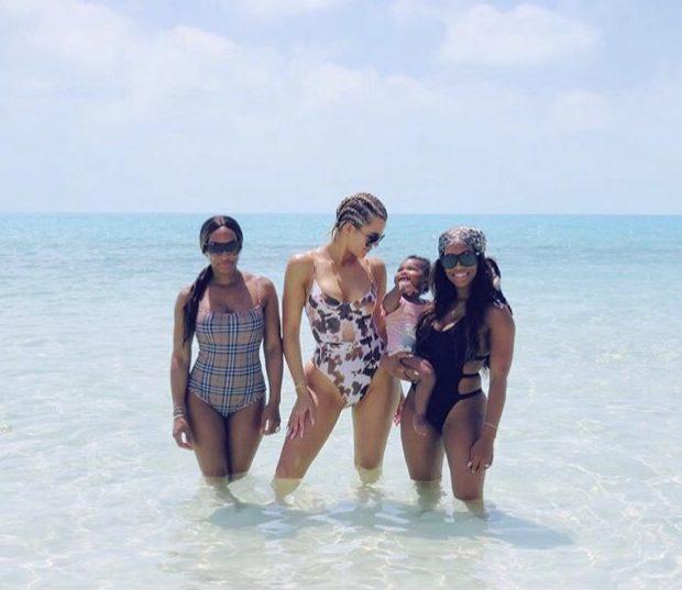 Khloe Kardashian Takes Baby True On Island Vacay [Photos]