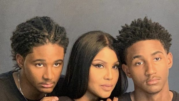 Toni Braxton Stuns In Photoshoot With Handsome Sons