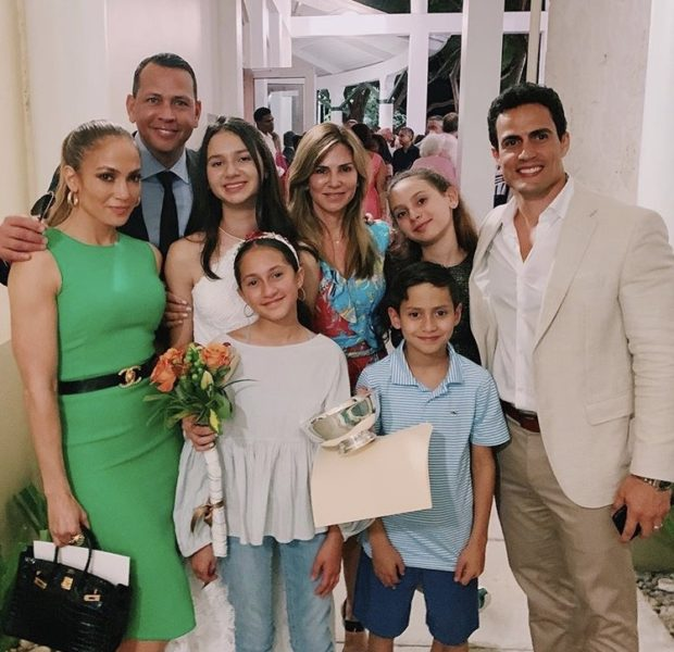 J.Lo Sweetly Poses W/ A. Rod & Ex Wife At Their Daughter's Graduation [Happily Blended]