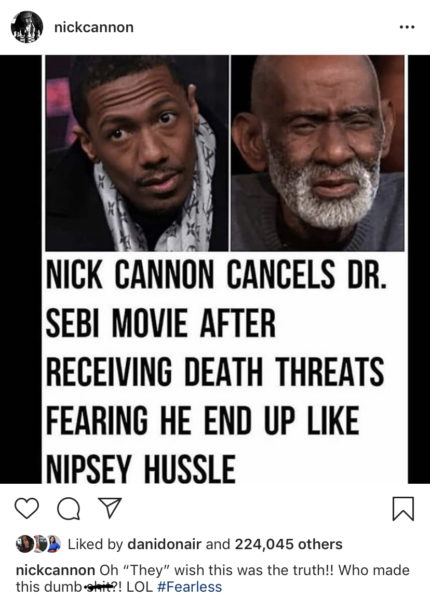 Nick Cannon Denies Reports He Quit Dr  Sebi Docu After