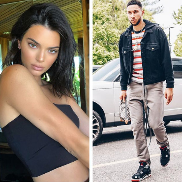 Kendall Jenner & NBA Star Ben Simmons Split