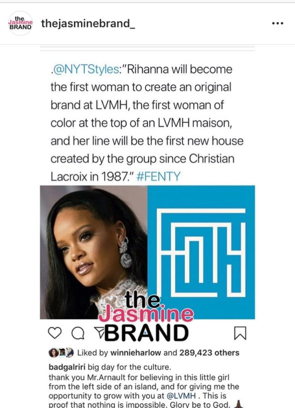 factory authentic 98ef4 aaf56 Bernard Arnault, President and CEO of LVMH expressed his excitement about  working with Rihanna