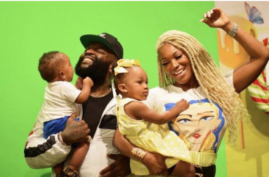 Rick Ross Has Adorable Family Shoot w/ Youngest Kids & Girlfriend