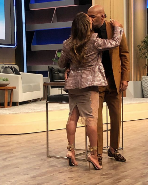 Majorie Harvey Gives Steve Harvey A Final Kiss Before Talk Show Ends