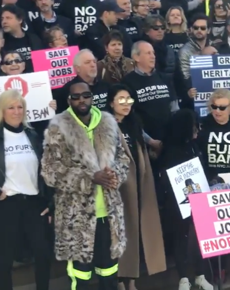 Safaree Shows Up To NYC Protest To Give Pro-Fur Speech [VIDEO]
