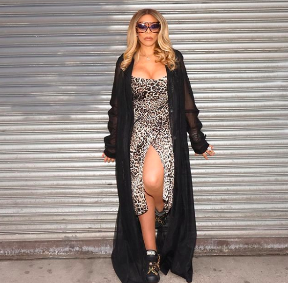 Wendy Williams Leaves Her Wig On The Floor, Sharing Mystery Man's Sneakers