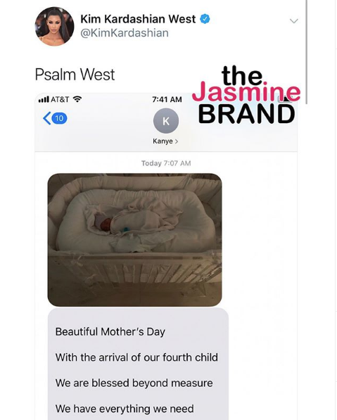Kim Kardashian Shares 1st Photo of 4-Week-Old Son, Psalm