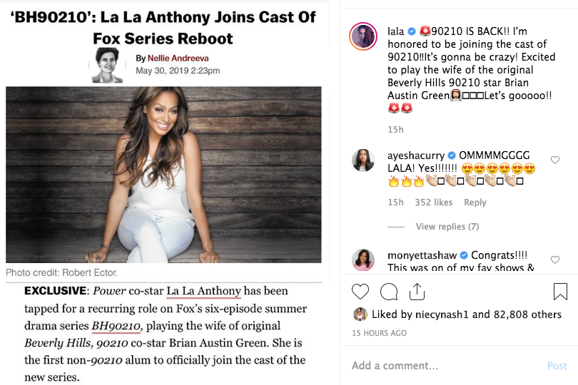 LaLa Anthony To Join Beverly Hills 90210 Reboot