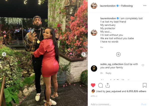 This Christmas Lauren London.Lauren London Crowns Nipsey Hussle The King Of La