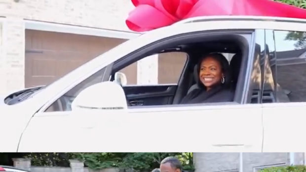 Todd Tucker Gifts Wife Kandi Burruss W/ A Bentley Truck for Her Birthday