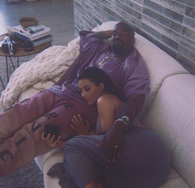 Kim Kardashian Sweetly Snuggles W/ Husband Kanye West