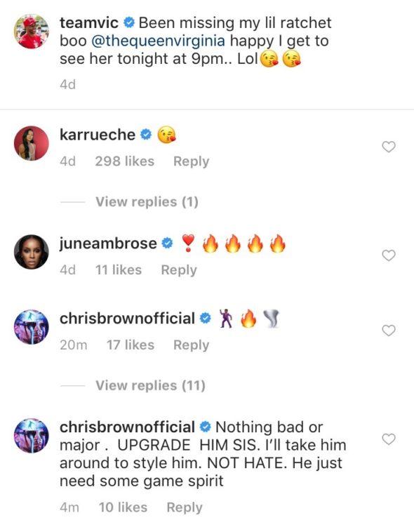 Chris Brown Shades Ex-Girlfriend Karrueche's Boyfriend