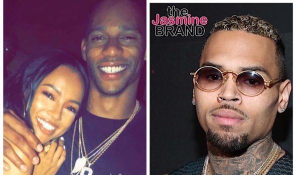 """Chris Brown Shades Ex-Girlfriend Karrueche's Boyfriend Victor Cruz, """"PLEASE STYLE HIM"""""""