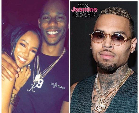 "Chris Brown Shades Ex-Girlfriend Karrueche's Boyfriend Victor Cruz, ""PLEASE STYLE HIM"""