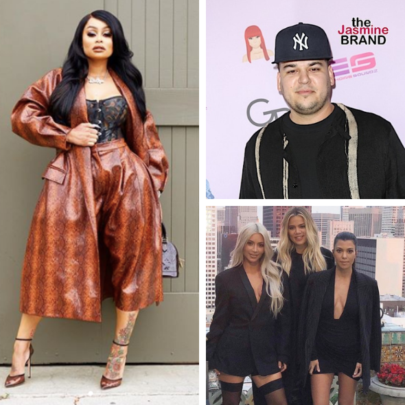 Blac Chyna Says She Has 'No Beef' W/ Kardashian Sisters, In A 'Good Place' W/ Rob Kardashian