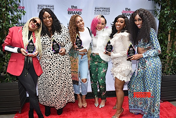 "theJasmineBRAND's ""Shattering Ceilings"" Brunch Honors Meagan Good, Loni Love, Laurineann Gibson, Christine Simmons, Jackie Aina & Lala Milan [Photos]"