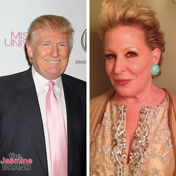President Trump Blasts 'Washed Up Psycho Bette Midler' After She Claimed He Said 'Republicans Are Dumbest Group Of Voters In The Country""