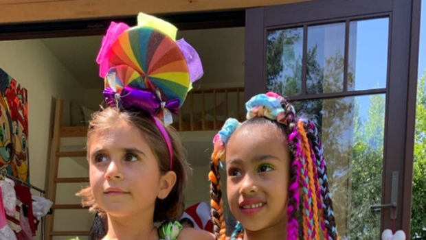 Kim & Kourtney Kardashian Throw Daughters Candy Themed B-Day Party