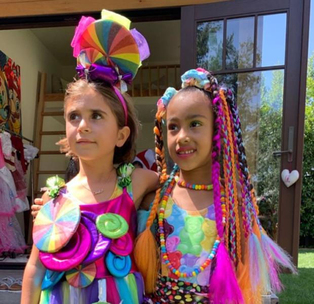 Kim & Kourtney Kardashian Throw Daughters Candy Themed B-Day Party