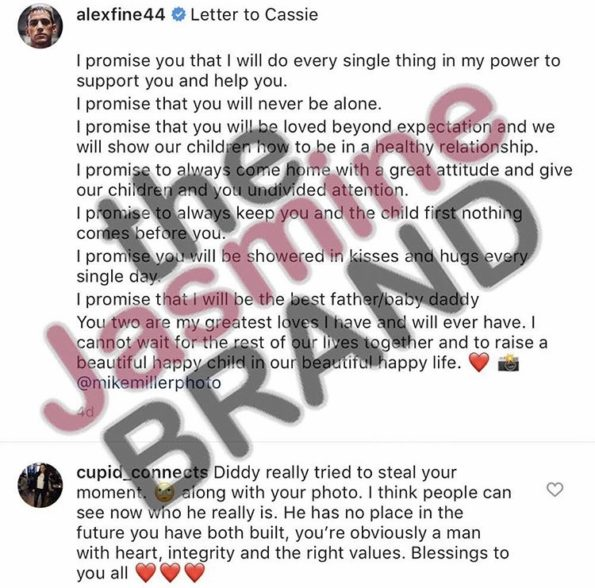 Cassie's Boyfriend Allegedly Likes Comment, Suggesting Diddy
