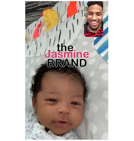 Trey Songz Facetimes Infant Son & Writes: I Miss You [Photo]