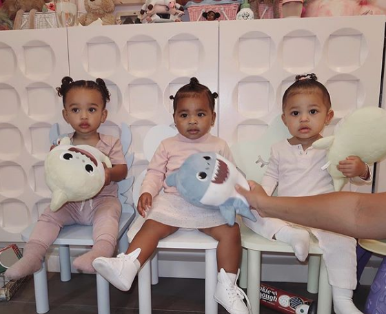 Kim Kardashian Shares Sweet Photo of Daughter Chicago With Nieces True & Stormi!