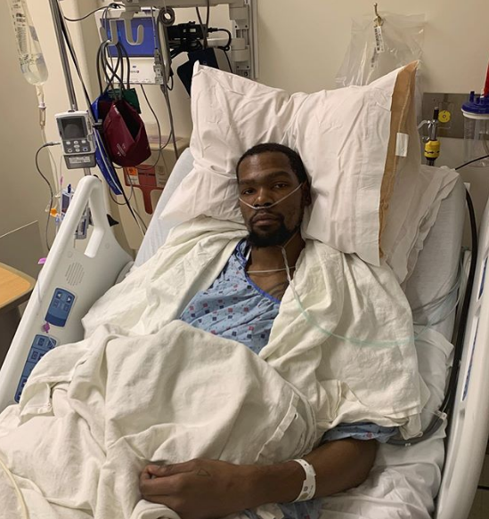 Kevin Durant Shares Photo From Hospital Bed: Surgery Was Today & It Was A Success!