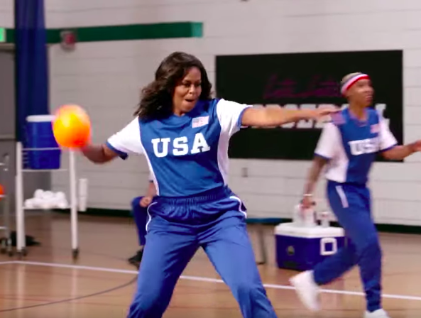 Michelle Obama Plays Dodgeball With Lena Waithe, Melissa McCarthy & Mila Kunis In Hilarious Game [VIDEO]