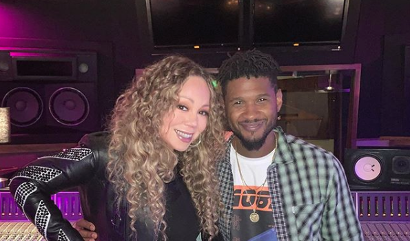 Mariah Carey Spotted In The Studio With Usher