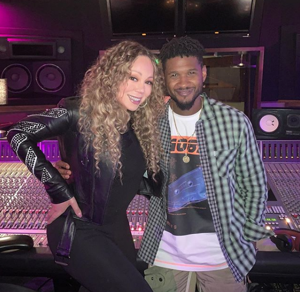 Image result for mariah carey usher Instagram
