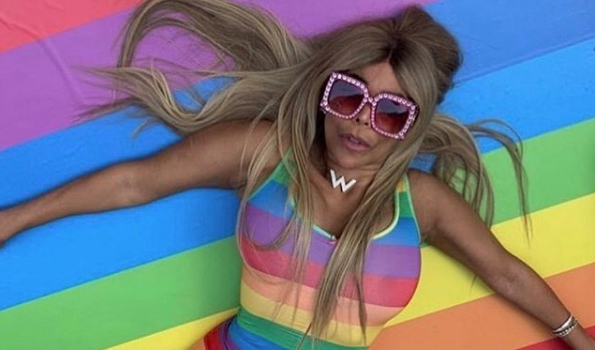 Wendy Williams Wears Skintight Rainbow Jumper For Pride, Becomes Emotional From Fans Support [VIDEO]