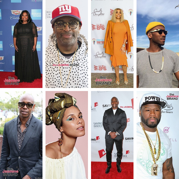 Octavia Spencer, Wendy Williams, Spike Lee, Dave Chappelle, 50 Cent To Get Hollywood Stars