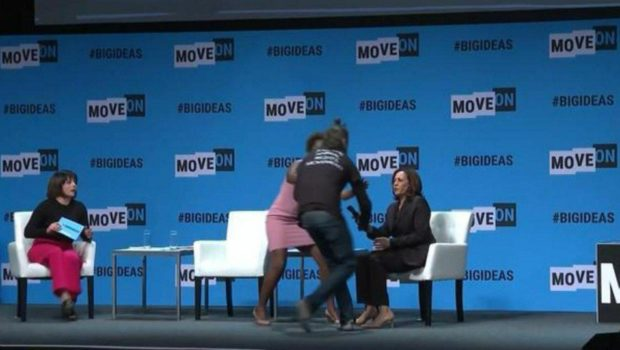 Kamala Harris' Microphone Snatched By Protestor During Event [VIDEO]