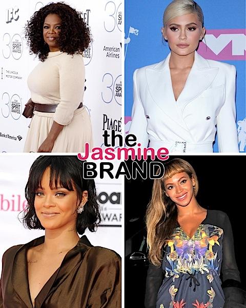 Forbes List Of Richest Self-Made Women: Oprah #10 W/ $2.6 Billion Net Worth, Kylie Jenner #23 W/ $1 Billion Net Worth + Rihanna Lands At #37 & Beyonce At #51