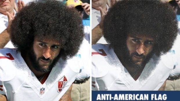Colin Kaepernick's Skin Allegedly Darkened In Recent Republican Email