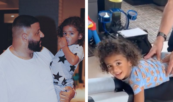 DJ Khaled's 2-Year-Old Son Is Already Getting Massages [VIDEO]