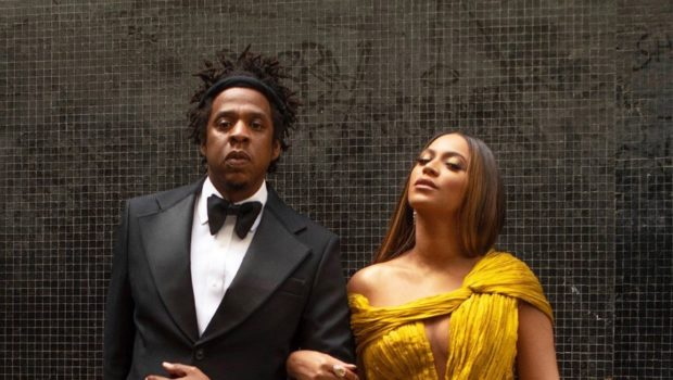 Beyonce Drips In Custom CongTri, Jay Z Rocks All Black Tux At 'Lion King' Premiere [Photos]