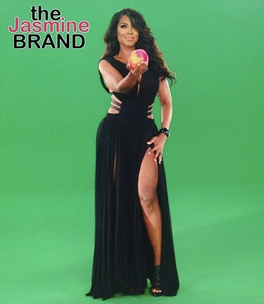 "Kenya Moore Reveals Her Peach, Confirming Her Return To ""Real Housewives Of Atlanta"" [Photo]"