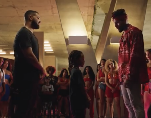 "Chris Brown & Drake Face Off In ""No Guidance"" Video"