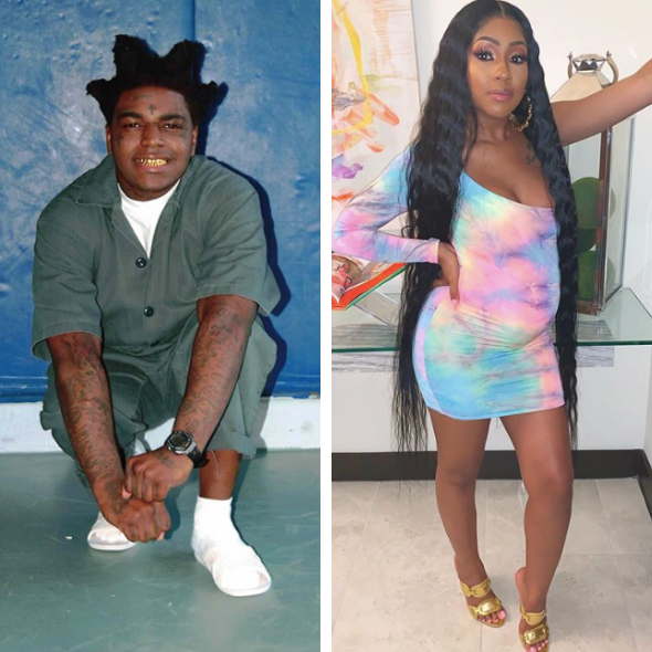 Kodak Black Threatens Pregnant Yung Miami In Freestyle From Jail 'When I See Her I'm A Hit That B**** In The Stomach'